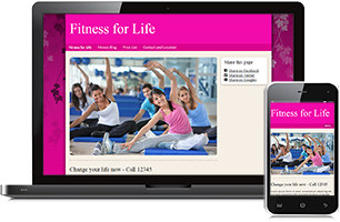 Fitness website example
